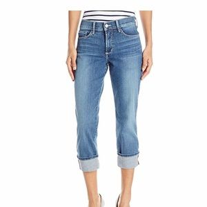NYDJ Dayla Colored Wide Cuff Capri Jeans 14